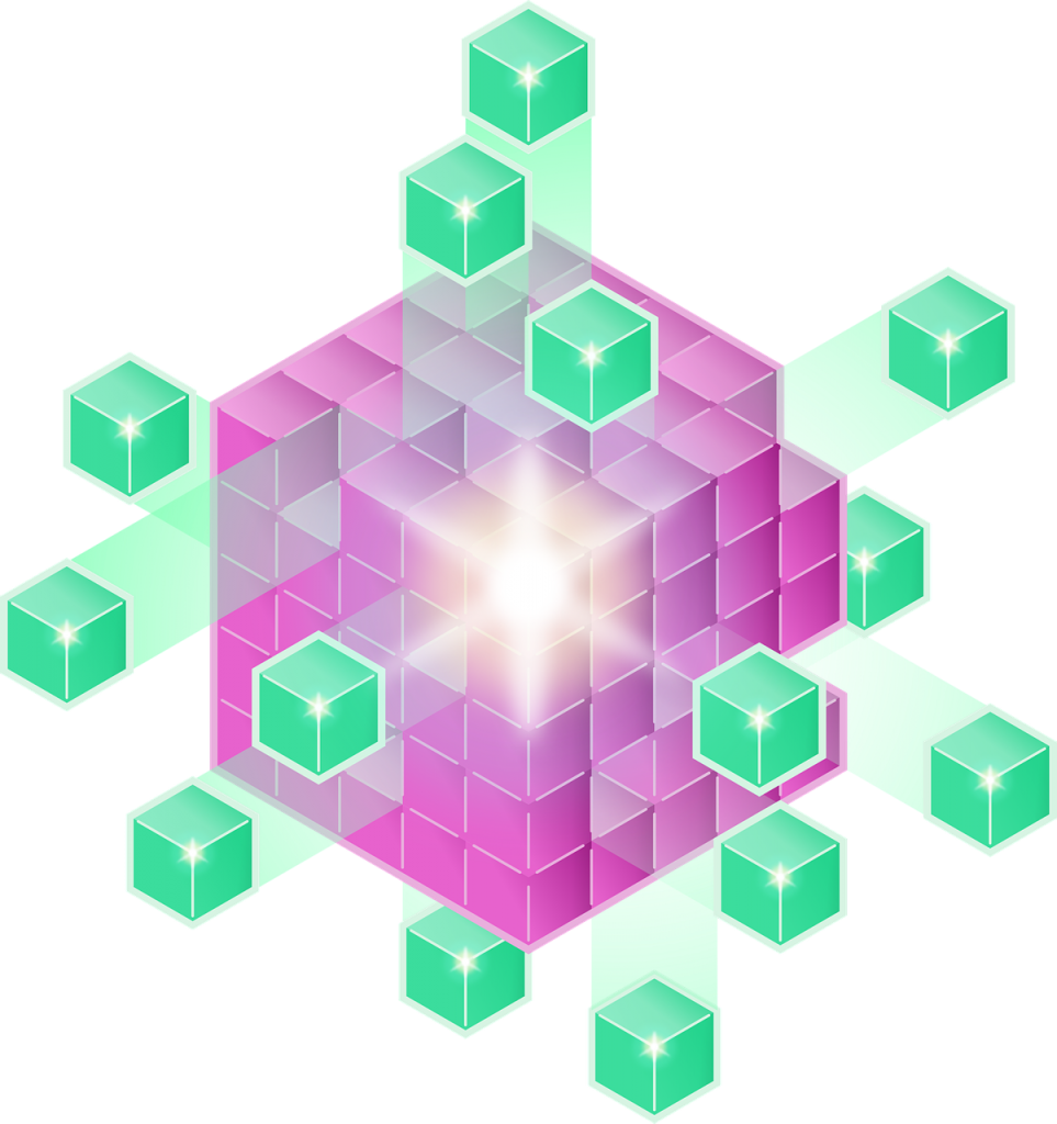 Data architecture visualized with blocks